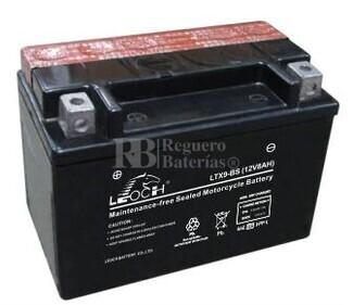 Batería de Moto 12 Voltios 8 amperios YTX9-BS, LTX9-BS, GTX9-BS