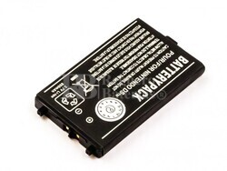 Batería para Nintendo DS, Li-ion, 3,7V, 850mAh, 3,1Wh