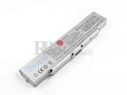 Bateria para ordenadores Sony Vaio VGP-BPS9/S, VGP-BPS9A/S, VAIO VGN-CR490EBP, VAIO VGN-CR490EBN...(Color Plata)