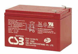 Batería SAI 12 Voltios 15 Amperios CSB EVH12150