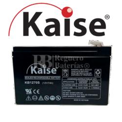 Batería SAI 12 Voltios 7 Amperios Kaise KB1270S