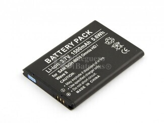 Batería para Samsung Galaxy SGH i8910 Omnia HD, Wave II, Li-ion, 3,7V, 1500mAh, 5,6Wh