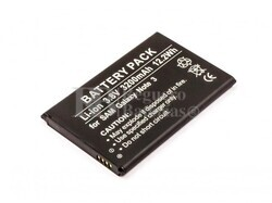 Batería para Samsung Galaxy Note 3, Galaxy Note III, Li-Ion 3,8V 3200mAh