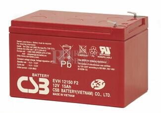 Batería para Scooter Electrico 12 Voltios 15 Amperios CSB EVH12150