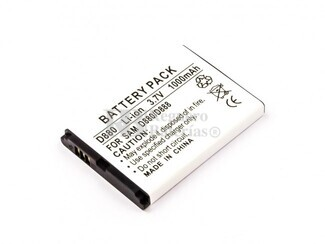 Bateria para telefonos Samsung SGH D880, Li-ion, 3,7V, 1000mAh, 3,7Wh