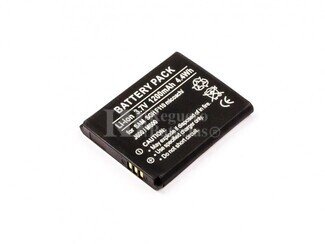 Bateria para telefonos Samsung SGH F110 miCoach, J600, M600, Li-ion, 3,7V, 1200mAh, 4,4Wh