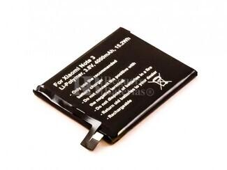Batería para Xiaomi Note 3, Li-Polymer, 3,8V, 4000mAh, 15,2Wh
