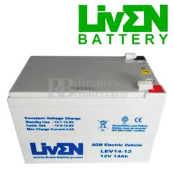 Batería Patín 12 Voltios 14 Amperios LEV14-12
