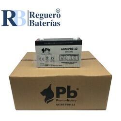 Batería PB6-12 6 Voltios 12 Amperios Caja 10U
