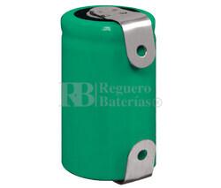 Batería recargable 1/2 A, 2/3A 1.2 Voltios 1.050 mAh C/Lengüetas