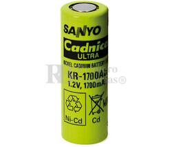 Batería recargable 1.2 Voltios 1.700 mah A Sanyo KR1700AU