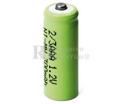 Batería recargable 1.2 Voltios 300 mah 2/3AAA,NI-MH