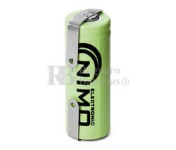 Batería recargable 1.2 Voltios 400 mah 2/3AAA C/Lengüetas