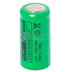 Batería recargable 1.2 Voltios 650 mah 2/3AA, NI-MH