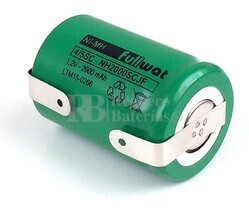 Batería 4/5 SC 1.2 Voltios 2.000 mah con lengüetas