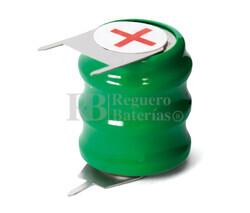 Batería Recargable circuito impreso 3.6 Voltios 80 mAh 3 Pines