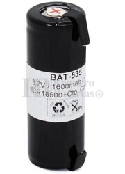 Batería recargable IRC18500 3.7 Voltios 1.600 mAh C/Lengüetas
