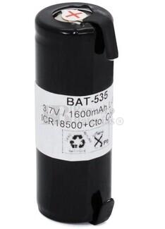 Bateria recargable IRC18500 Litio 3.7 Voltios 1.600 mAh con lenguetas 18,0x52,5mm