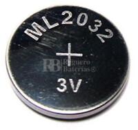 Batería recargable ML2032 CR2032 3 Voltios 65 mAh 20x3.2 mm
