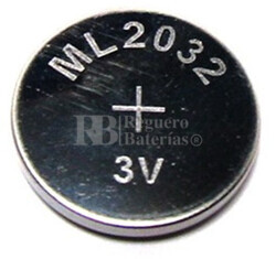 Batería recargable ML2032 CR2032 3 Voltios 65 mAh 20x3.2 mm