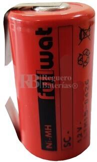Batería SubC 1.2 Voltios 2.100 mah con lengüetas