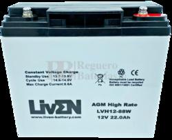 Batería SAI 12 Voltios 22 Amperios LVH12-88 Liven Battery