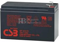 Batería SAI 12 Voltios 7,2 Amperios CSB GP1272