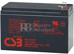 Batería SAI 12 Voltios 7,2 Amperios CSB GP1272 F2