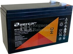 Batería SAI 12 Voltios 7,2 Amperios HEYCAR HC12-7.2