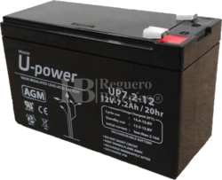 Batería SAI 12 Voltios 7,2 Amperios UP7.2-12