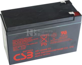 Batería para SAI UPS 12 Voltios 9 Amperios HR1234WF2