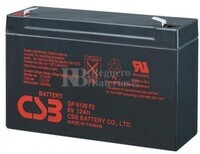 Batería SAI 6 Voltios 12 Amperios CSB GP6120