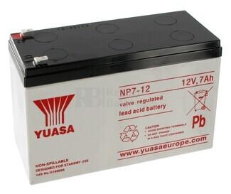 Batería SAI Yuasa NP7-12 12V 7 Amperios F4.8mm