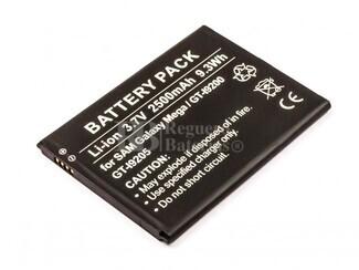 Bateria, Galaxy Mega 6.3, GT-I9200, GT-I9205, para telefonos Samsung, Li-ion, 3,7V, 2500mAh, 9,3Wh