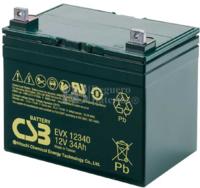 Bateria Silla de Ruedas 12 Voltios 34 Amperios EVX12340