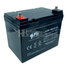 Batería Silla de Ruedas 12 Voltios 35 Amperios PBC12-35