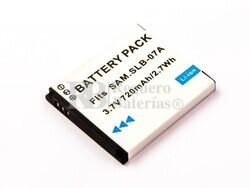 Bateria SLB-07A, Li-ion, 3,7V, 720mAh, 2,7Wh para camaras Samsung