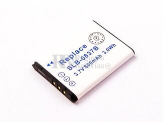 Batería SLB-0837B para Samsung VLUU NV10, NV8, NV20, NV15, NV10, L83T