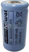 Batería SubC 1.2 Voltios 2,4 Amperios sin lengüetas