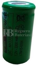 Batería SubC 1.2 Voltios 3,3 Amperios sin lengüetas