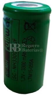 Batería SubC 1.2 Voltios 3.300 mah sin lengüetas
