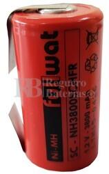 Batería SubC 1.2 Voltios 3,8 Amperios con lengüetas