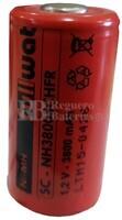 Batería SubC 1.2 Voltios 3,8 Amperios sin lengüetas