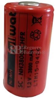 Batería SubC 1.2 Voltios 3.800 mah sin lengüetas