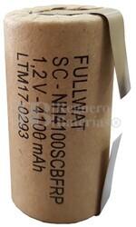 Batería SubC 1.2 Voltios 4,1 Amperios con lengüetas