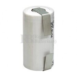 Batería SubC 1.2 Voltios 1.500 mah con lengüetas