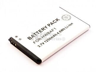 Batería T-MOB Pulse, Li-ion, 3,7V, 1250mAh, 4,6Wh