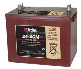 Batería Trojan 24-AGM 12 Voltios 76 Amperios C20 274 x 174 x 219mm