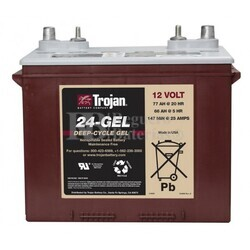 Batería Trojan 24-GEL 12 Voltios 77 Amperios C20 277 x 168 x 235mm
