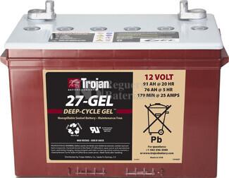 Batería Trojan 27-GEL 12 Voltios 100 Amperios